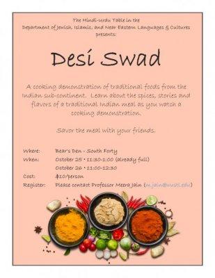 Desi Swad | Jewish, Islamic, and Middle Eastern Studies